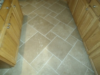 Floor tile after our heavy-duty clean