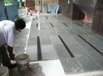 Tile craftsmen at work