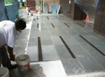 Tile craftsmen at work